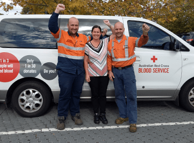 UGL employees donate blood